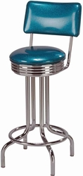 Chrome Swivel Retro Bar Stool - click to enlarge
