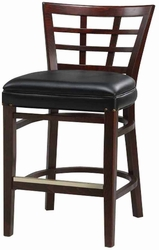 Trellis Back Stool with Upholstery Seat - click to enlarge