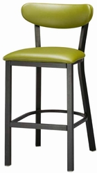 Metal Frame Stool with Upholstered Seat and Back - click to enlarge