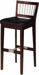 Cherry Bar Stool with Metal Stretcher - click to enlarge