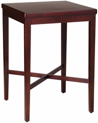 Cherry Finish Solid Wood Pub Table - click to enlarge