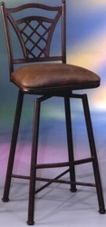 Pastel Waverly Swivel Barstool in Heavy Duty Steel - click to enlarge