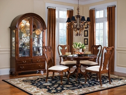American Drew Cherry Grove Round Dining Table with 4 Chairs - click to enlarge