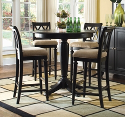 American Drew Camden Bar Height Table Set with 4 Barstools - click to enlarge
