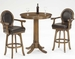 Hillsdale Warrington Bar Height Table & Swivel Stools - Set of 3