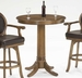 Hillsdale Warrington Bar Height Table in Rich Cherry