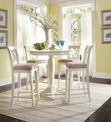 American Drew Camden White 4pc Bar Height Table Set - click to enlarge