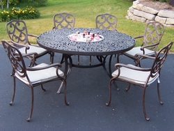 Oakland Living Mississippi Pacifica Outdoor Dining Table Set With