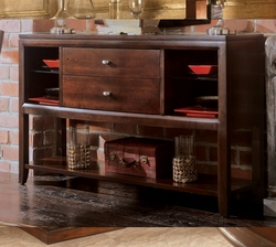 American Drew Tribecca Sideboard with Glass Shelves - click to enlarge