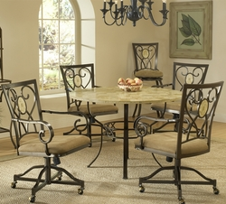 Hillsdale Brookside Dining Table with 4 Chairs - 4815DTRNBCOVC - click to enlarge
