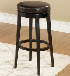Armen Living Backless Barstool in Brown - click to enlarge