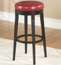 Armen Living Backless Barstool in Red and Espresso - click to enlarge