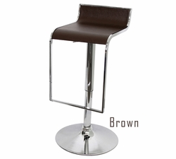 Retro Contemporary Brown Hydraulic Uptown Bar Stool - click to enlarge