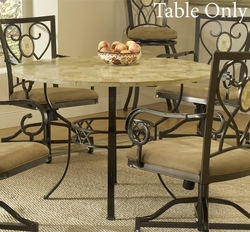 Hillsdale Brookside Dining Table with Fossil Stone Top - 4815DTRNB - click to enlarge