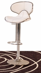 Diamond Sofa Adjustable Height Chocolate or White Barstools - click to enlarge