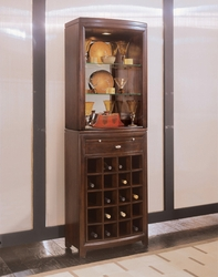 American Drew Tribecca Server and Hutch with Wine Storage - click to enlarge