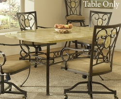 Hillsdale Brookside Rectangle Fossil Stone Dining Table - 4815DTB - click to enlarge