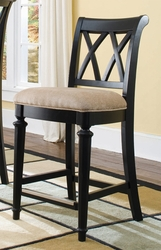 American Drew Camden Counter Height Bar Stool - Black Finish - click to enlarge