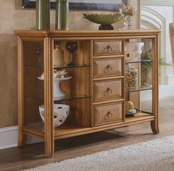 American Drew Antigua Server in Toasted Almond - click to enlarge