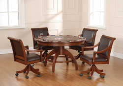 Hillsdale Palm Springs Game Table & 4 Chairs Set in Medium Brown Cherry - click to enlarge