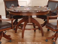 Hillsdale Palm Springs Game Table in Medium Brown Cherry - click to enlarge