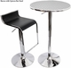 Silver Swirl Top Bistro Bar Table - click to enlarge