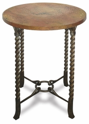 Riverside Medley Penny Patina Round Pub Table - click to enlarge