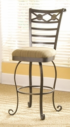 Riverside Stone Forge Swivel Barstool - click to enlarge