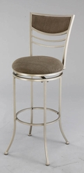 Hillsdale Amherst Swivel Bar Stool with Champagne Finish - 4174-830 - click to enlarge