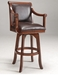 Hillsdale Palm Springs Swivel Bar Stool with Brown Cherry Finish - 4185-830
