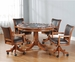 Hillsdale Park View Game Table & Chairs Set in Medium Brown Oak � Set of 5