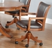 Hillsdale Park View Game Chair with Casters in Medium Brown Oak