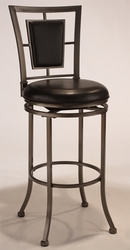 Hillsdale Auckland Swivel Barstool with leather Seat - 4262-830 - click to enlarge