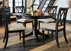 American Drew Camden Black Dining Set - click to enlarge