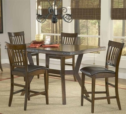 Hillsdale Arbor Hill 5-Piece Counter Height Table Set - 4232GTBS - click to enlarge