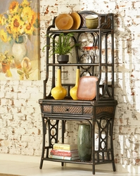 Powell Hand Distressed Dark Brown Turtle Bay Baker S Rack