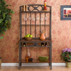 Holly & Martin Wine Storage Baker's Rack in Decorative Coffee Brown - click to enlarge