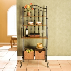 Holly & Martin Powder Coated Black Carlsbad Bakers Rack - click to enlarge