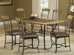 Hillsdale Lakeview Rectangle Dining Set with 6 Wood Chairs - click to enlarge
