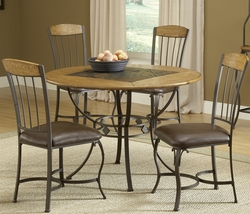 Hillsdale Lakeview Round Dining Set with 4 Wood Chairs - click to enlarge