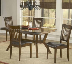 Hillsdale Arbor Hill Dining Set with 4 Side Chairs- 4232DTBC - click to enlarge