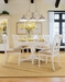 American Drew Camden White Dining Set with 4 Side Chairs
