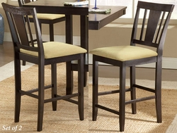 Hillsdale Arcadia Non-Swivel Counter Stools - Set of 2 - click to enlarge