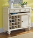 American Drew Camden White Server with 2 Drawers