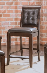 American Drew Tribecca Barstool with Leather Seat and Back - click to enlarge