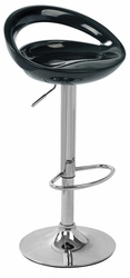Lumisource Swizzle Black Bar Stool with Foot Rest - click to enlarge