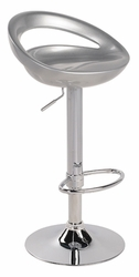 Lumisource Swizzle Silver Bar Stool with Foot Rest - click to enlarge