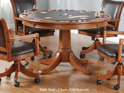 Hillsdale Park View Game Table in Medium Brown Oak - click to enlarge
