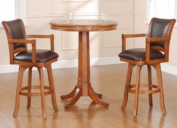 Hillsdale Park View Bar Height Table & Swivel Stools - Set of 3 - click to enlarge