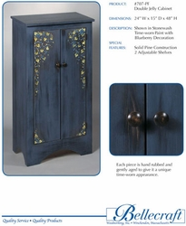 Bellecraft Double Jelly Cabinet in Solid Wood - click to enlarge